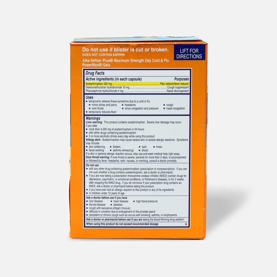 Alka-Seltzer Plus Cold & Flu PowerMax Gels, Day, 24ct, , large image number 1