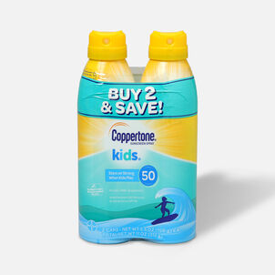 Coppertone Kids Sunscreen Spray SPF 50, Twin Pack, 5.5 oz each