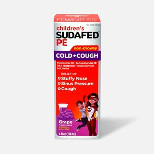 Children's Sudafed PE Oral Solution, Non-Drowsy, Grape Flavor, 4 fl oz