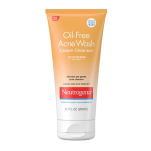 Neutrogena Oil-Free Acne Wash Cream Cleanser, 6.7 fl oz