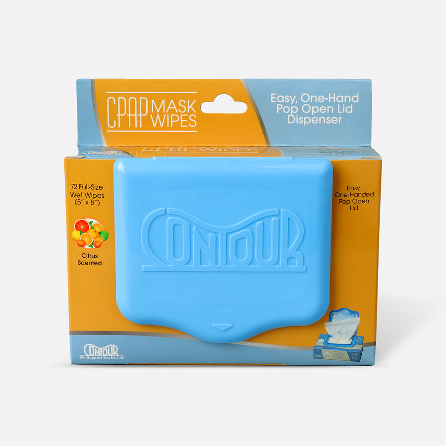 Contour CPAP Wipes, Citrus, 72 ct, , large image number 0