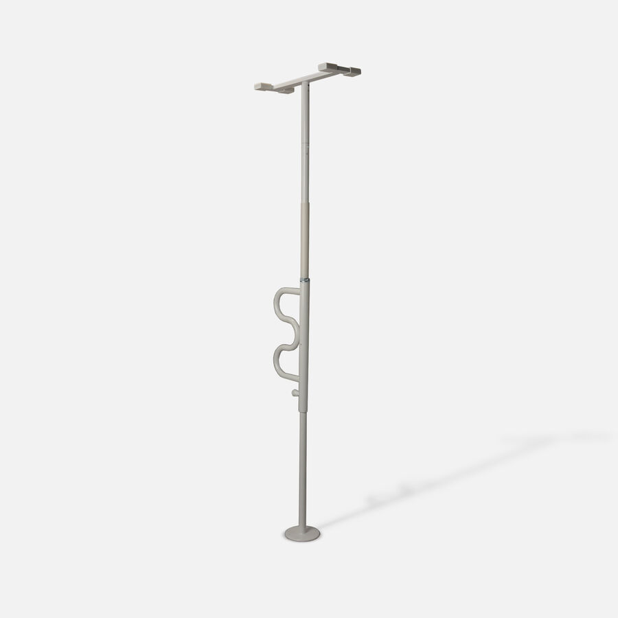 Stander Security Pole & Curve Grab Bar, White, , large image number 2