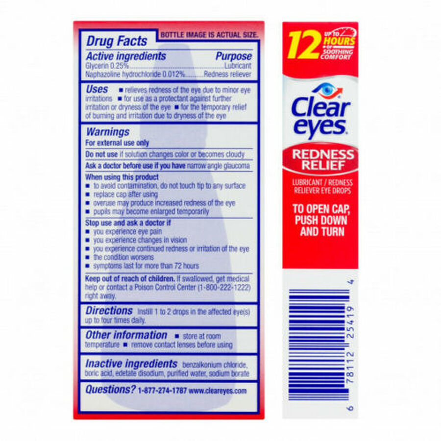 Clear Eyes Redness Relief Drops, 1 oz, , large image number 1