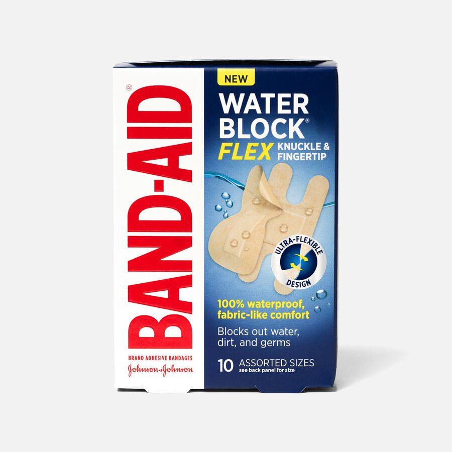 Band-Aid Waterblock Flex Knuckle & Finger Adhesive Bandages, Assorted, 10 ct, , large image number 0