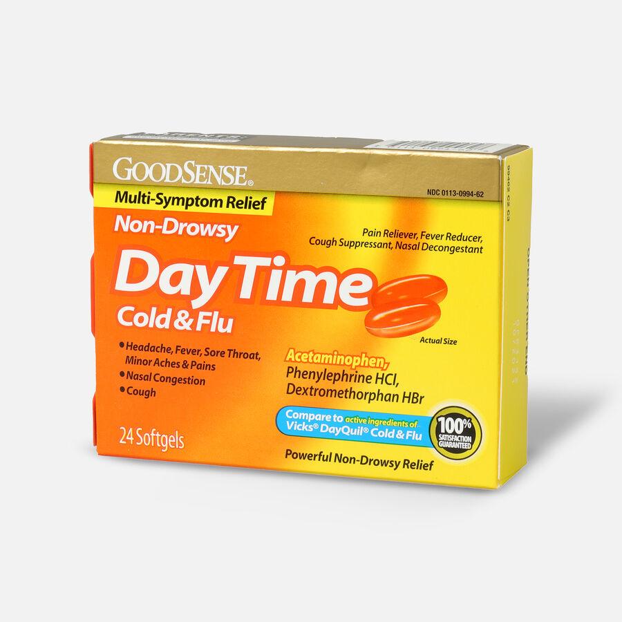 GoodSense® DayTime Cold & Flu Multi-Symptom Relief Softgels, , large image number 2
