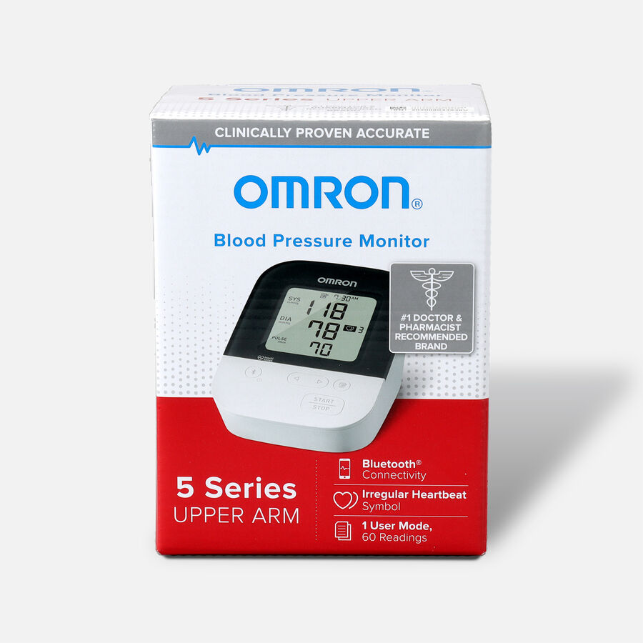 OMRON 5 Series Wireless Upper Arm Blood Pressure Monitor (BP7250), , large image number 0