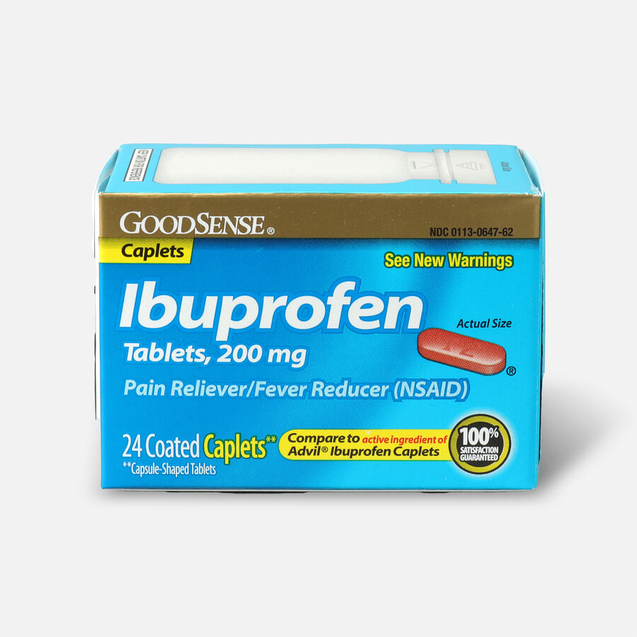 GoodSense® Ibuprofen Coated Caplets 200 mg Pain Reliever and Fever Reducer, , large image number 0