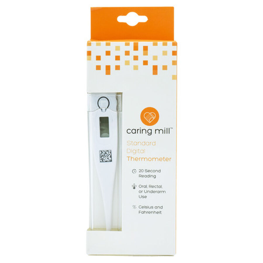 Caring Mill® Digital Thermometer with case, , large image number 0