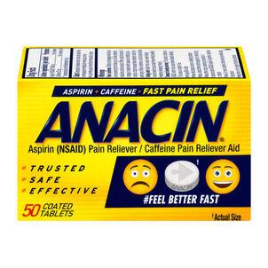 Anacin, Regular Strength, 50 count