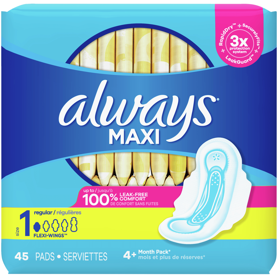 Always Maxi Pads with Wings, Unscented, , large image number 4