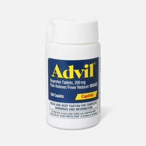 Advil Pain Reliever and Fever Reducer Coated Caplets, 200mg