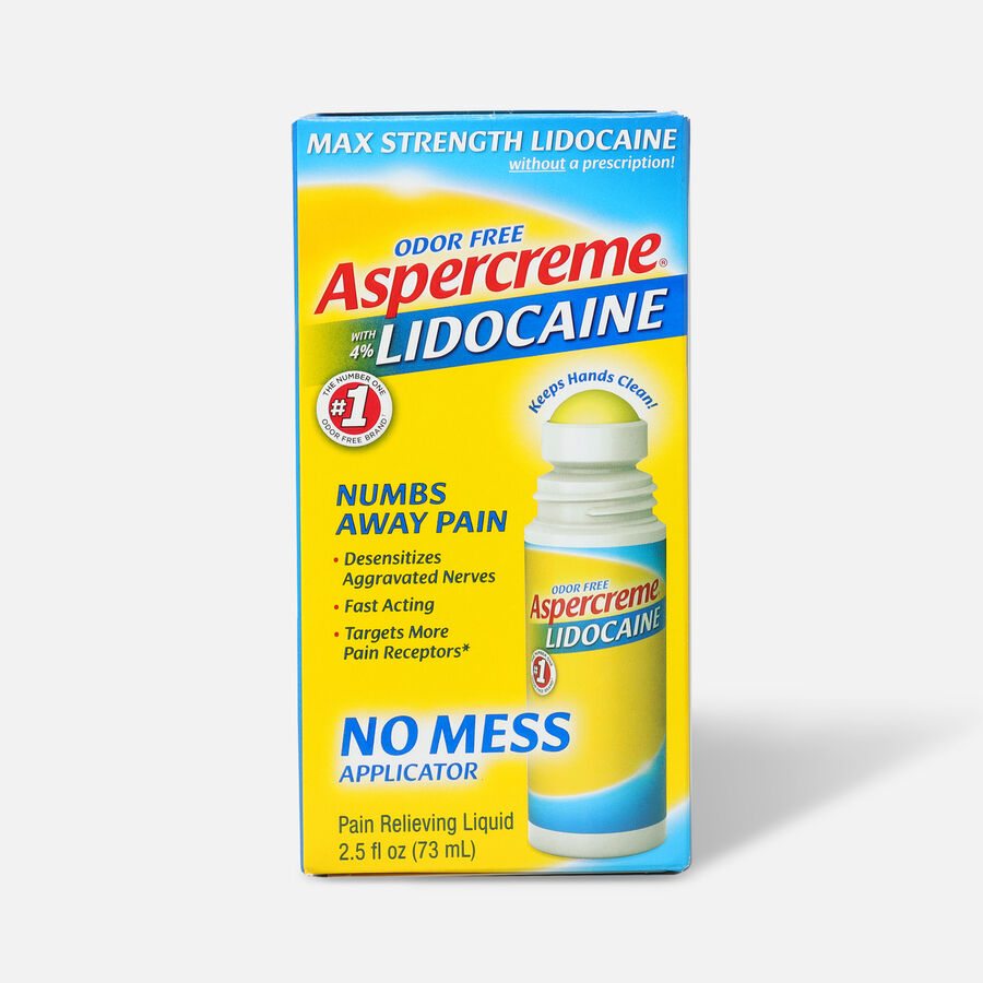 Aspercreme No Mess Roll-On with 4% Lidocaine, 2.5 fl. oz., , large image number 0