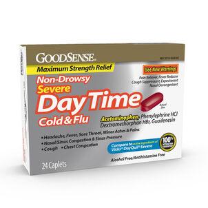 Goodsense®  Daytime Cold & Flu Non Drowsy Severe Caplets 24 Ct