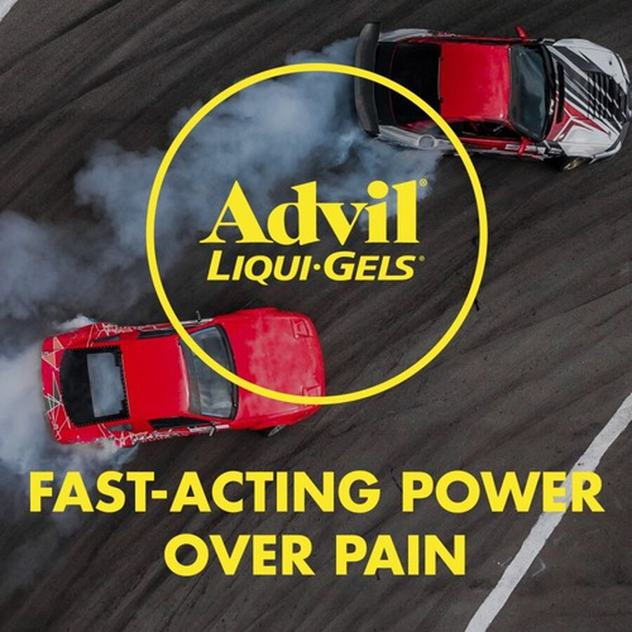 Advil Liqui-Gels Pain Reliever and Fever Reducer, Solubilized Ibuprofen 200mg, 40 Count, Liquid Fast Pain Relief, , large image number 7