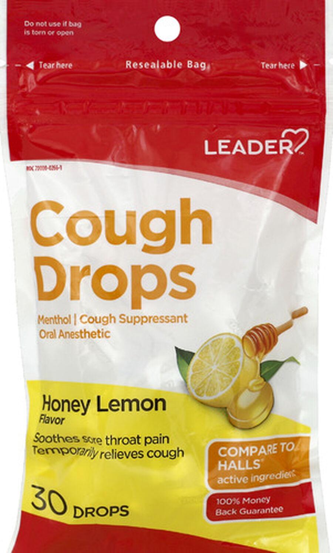 LEADER™ Cough Drops Honey Lemon 30 ct, , large image number 0