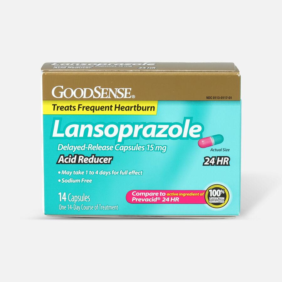 GoodSense® Acid Reducer, Lansoprazole Delayed Release Capsules,15 mg, , large image number 0