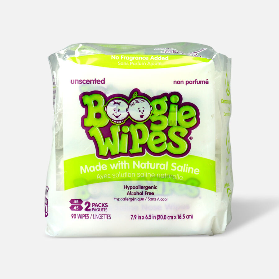 Boogie Wipes® 2-Pack 45-Count Saline Wipes in Unscented, , large image number 0