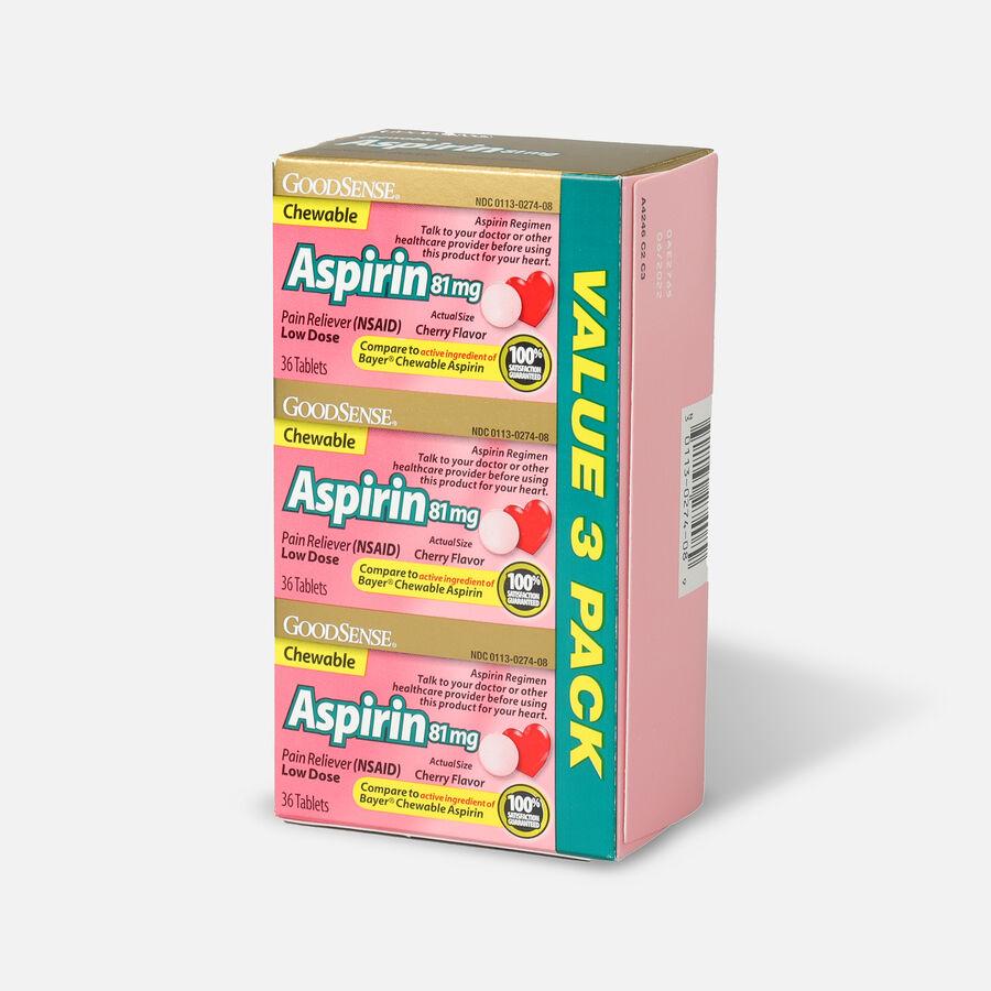 GoodSense® Aspirin 81 mg Low Dose Chewable Tablets, 3/36 ct, , large image number 5