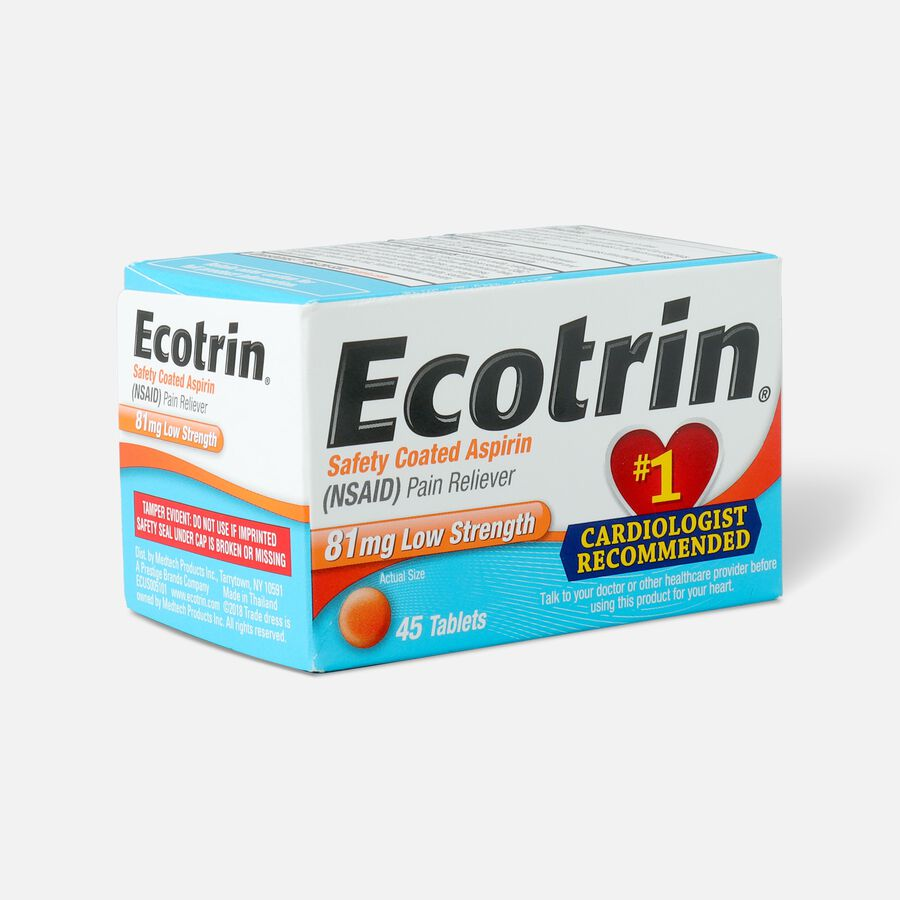 Ecotrin, Low Strength Aspirin, 45 ct., , large image number 0