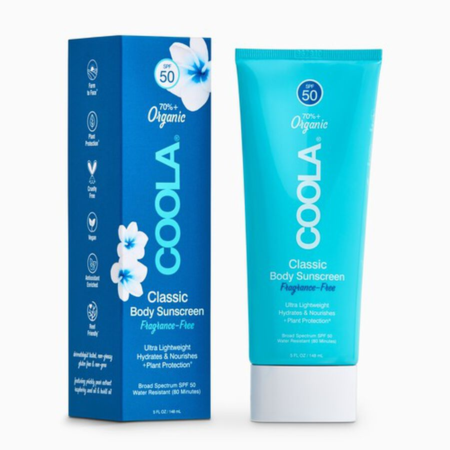 Coola Classic Body Organic Sunscreen Lotion SPF 50 Fragrance-Free 5oz., , large image number 0