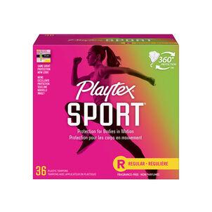 Playtex Sport Regular Tampons, Unscented, 36ct