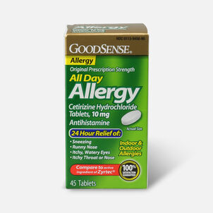 GoodSense® All Day Allergy Relief, Cetirizine HCl Tablets 10 mg, 45 ct