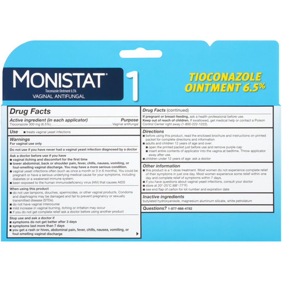 Monistat 1, Simple Therapy, , large image number 1
