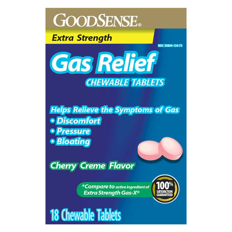 GoodSense® Gas Relief XS Simethicone 125 MG Chew Tab Cherry Crème, 18 ct, , large image number 0