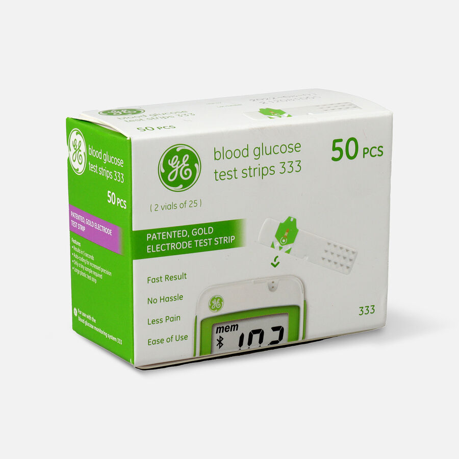 GE333 Blood Glucose Test Strips, 50 CT, , large image number 2