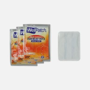 WellPatch Warming Pain Relief Patches, Large, 4 ct