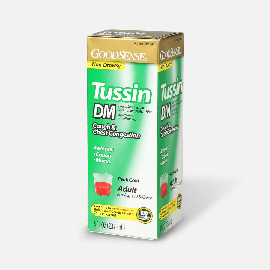 GoodSense® Tussin DM Cough Syrup 8 oz, For Children and Adults, , large image number 2