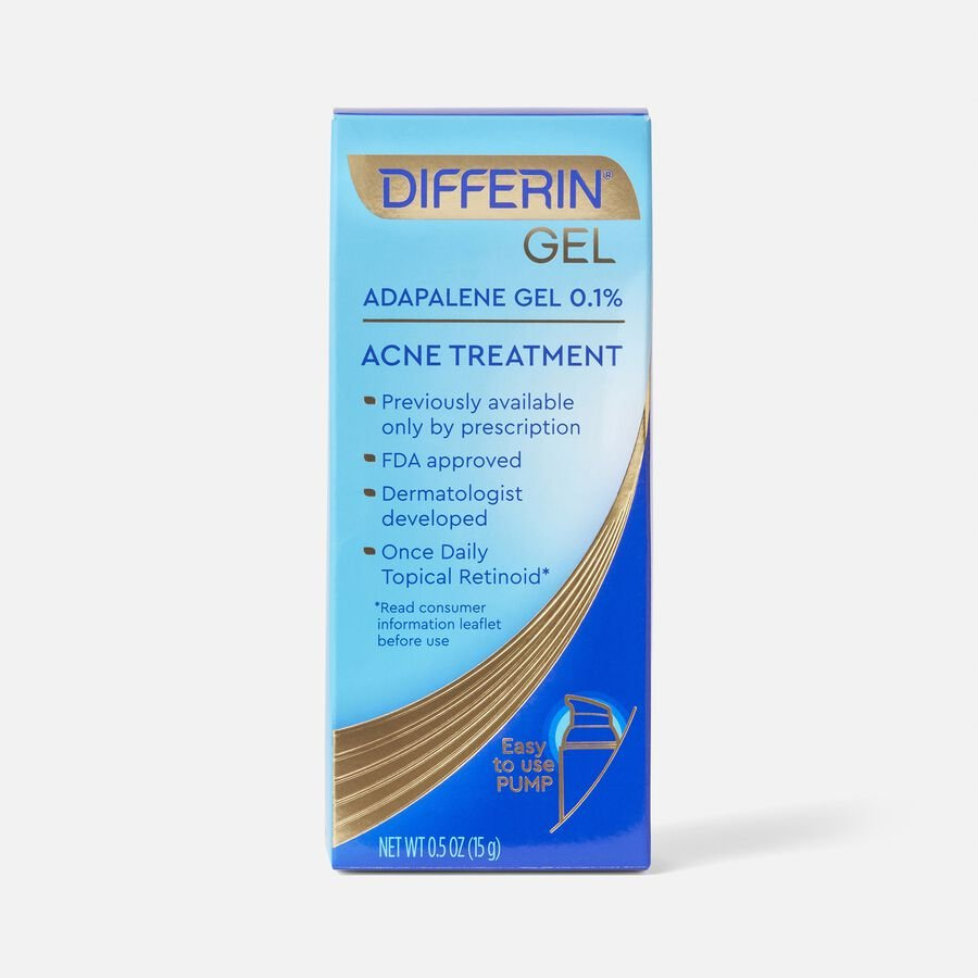 Differin 0.1% Adapalene Treatment Gel with Pump, , large image number 0