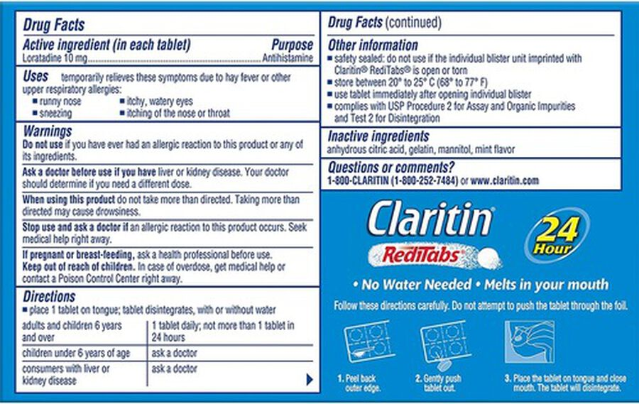 Claritin Allergy 24 Hour RediTabs, 30 Count, , large image number 1