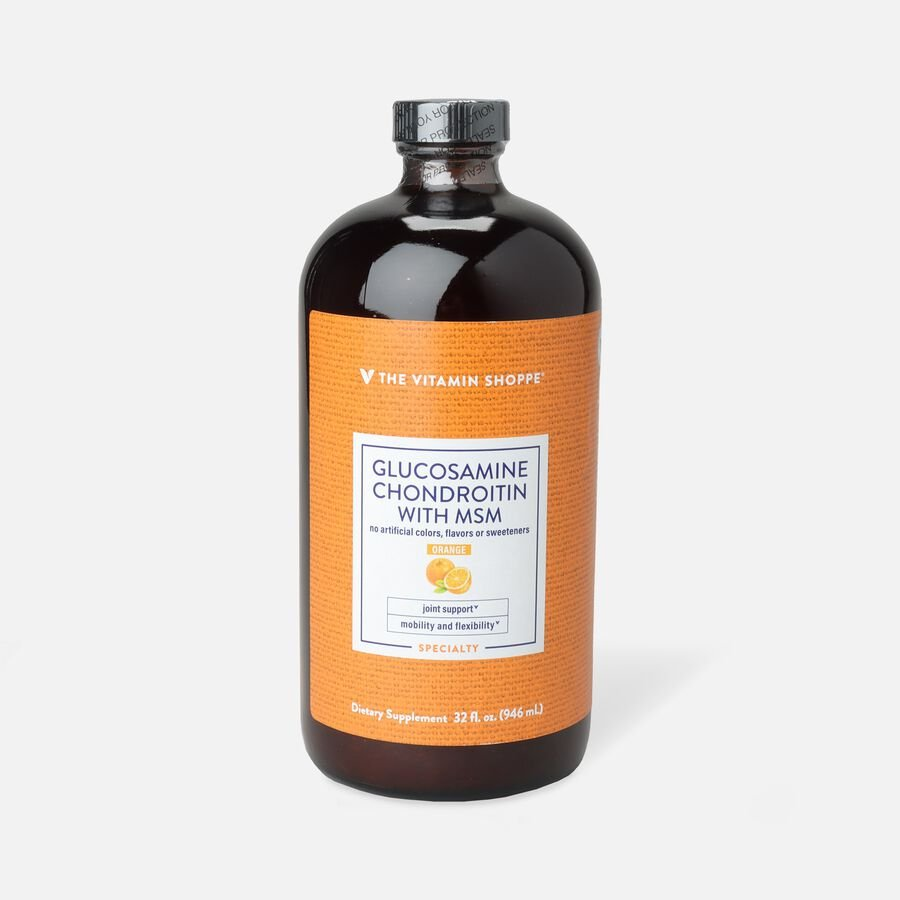 Vitamin Shoppe Liquid Glucosamine Chondroitin With MSM, Orange, , large image number 1