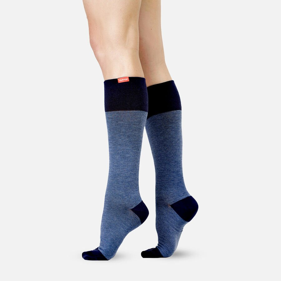 VIM & VIGR Cotton Compression Socks, Heathered Collection Navy, 30-40 mmHg, , large image number 0