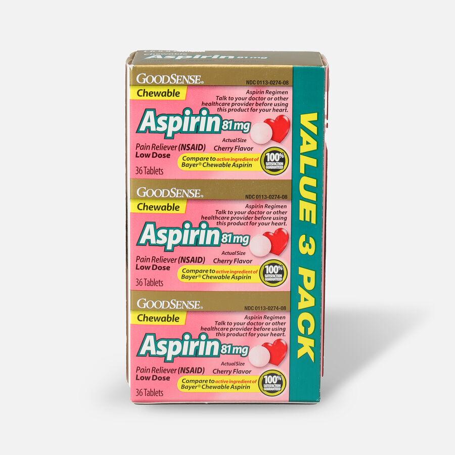 GoodSense® Aspirin 81 mg Low Dose Chewable Tablets, 3/36 ct, , large image number 3