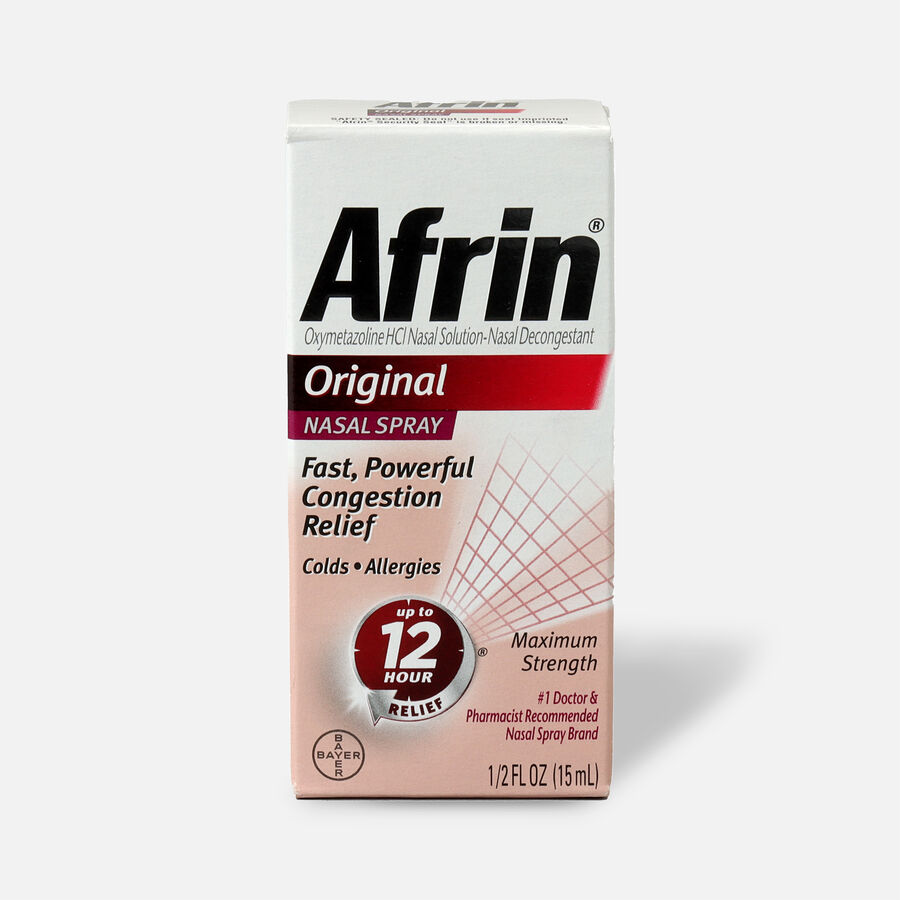 Afrin Original Nasal Spray, 0.5 oz, , large image number 0