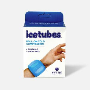 Icetubes™ Wrist Tubes, Roll-On Cold Compression, Blue