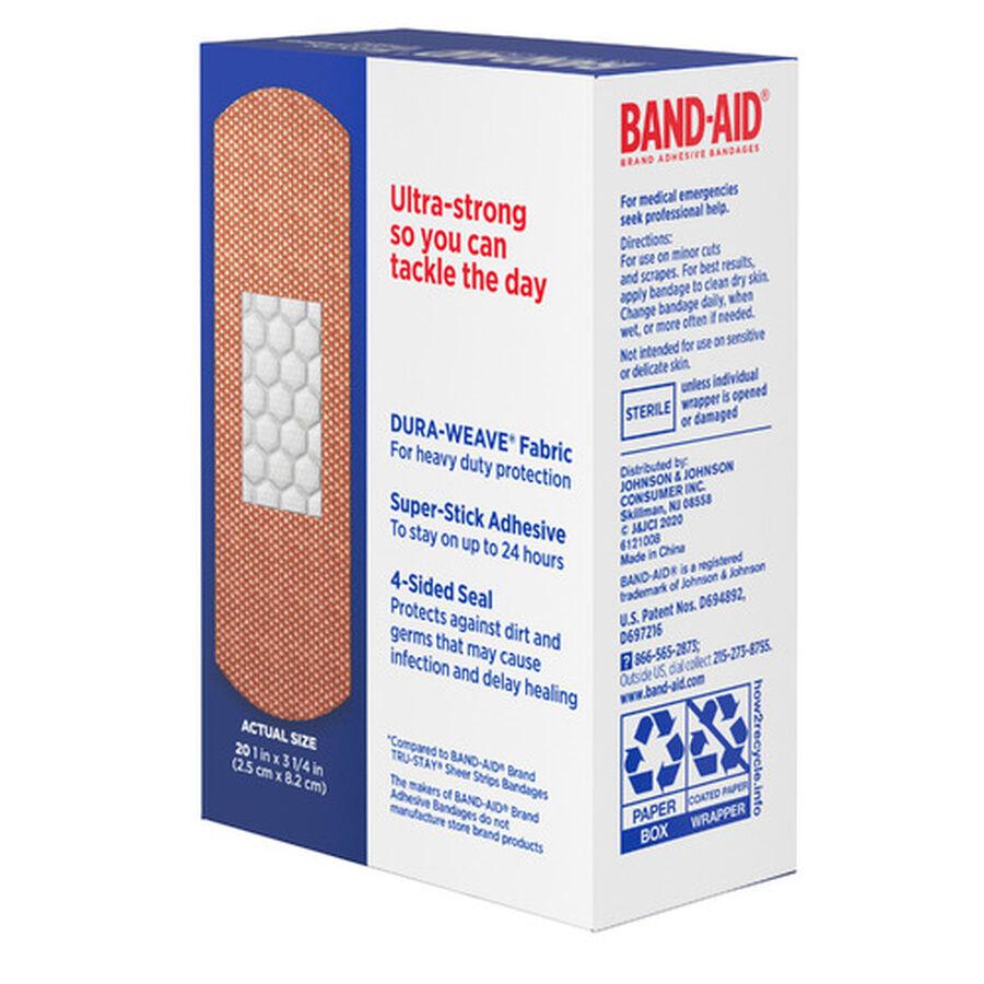 Band-Aid Tough Strips Adhesive Bandage, One Size - 20ct, , large image number 4