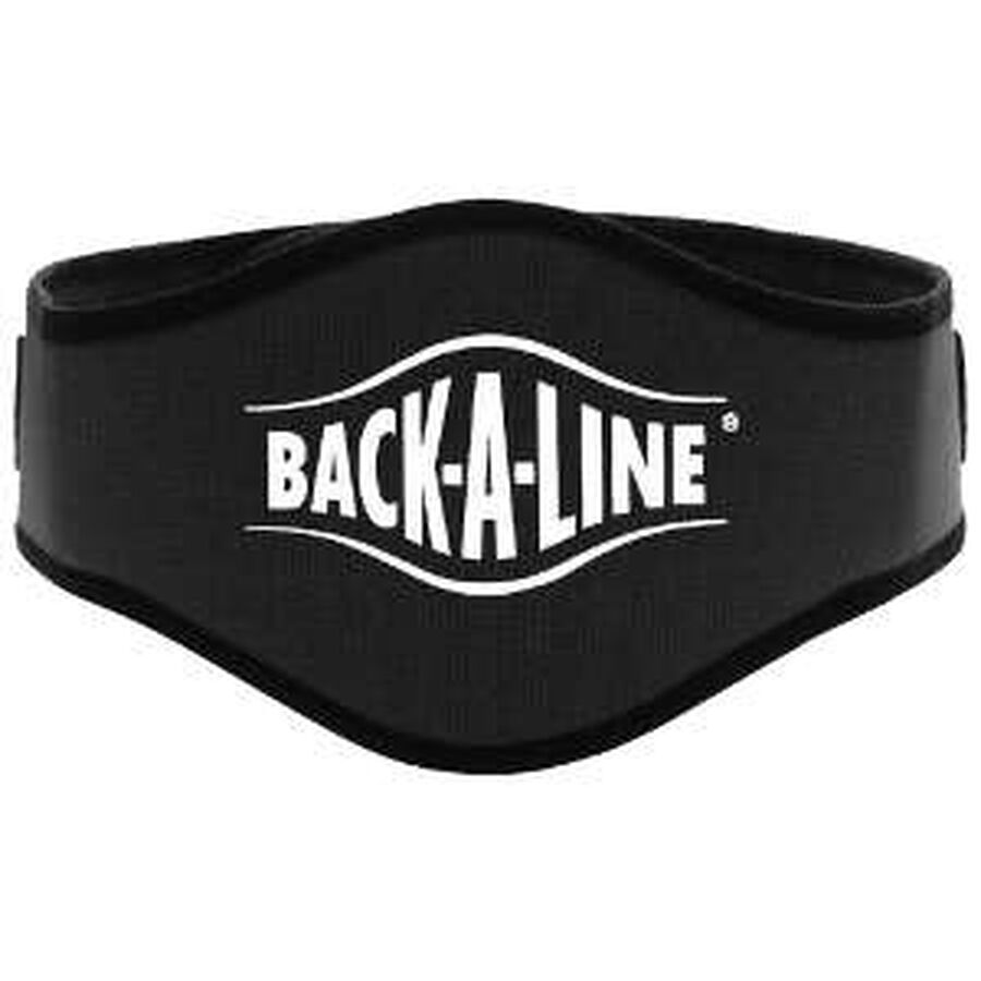 Back-A-Line Back Support with Lumbar Pad, Xtra Large, Black, , large image number 2