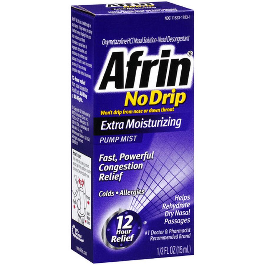 Afrin No Drip 12 Hour Pump Mist, Extra Moisturizing, .5 fl oz, , large image number 3