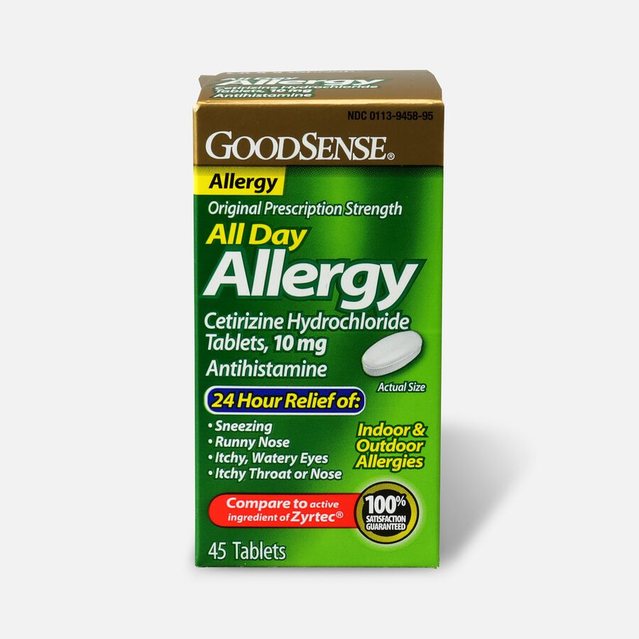 GoodSense® All Day Allergy Relief, Cetirizine HCl Tablets 10 mg, 45 ct, , large image number 0