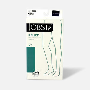 BSN Jobst Unisex Relief Knee-High Extra Firm Compression Stockings, Closed Toe, Large, Black