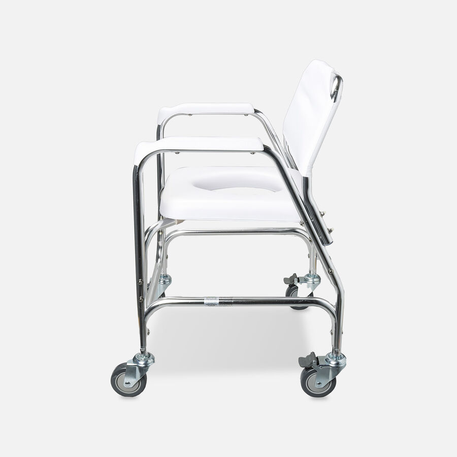 DMI Shower Transport Chair, w/Rear Wheels And Brakes, , large image number 2