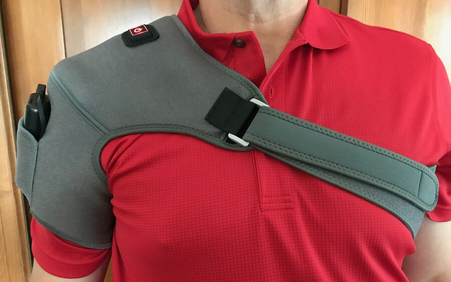 Battle Creek Embrace ™ Relief Shoulder Wrap – Portable, 3 Temperature Settings, Auto Shut Off, Wireless & Rechargeable Wrap, Battery-Operated Heat Therapy Wrap for Rotator Cuff and Shoulder Pain Relief, , large image number 29