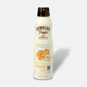Hawaiian Tropic Silk Hydration Weightless Sunscreen Spray, 6oz.