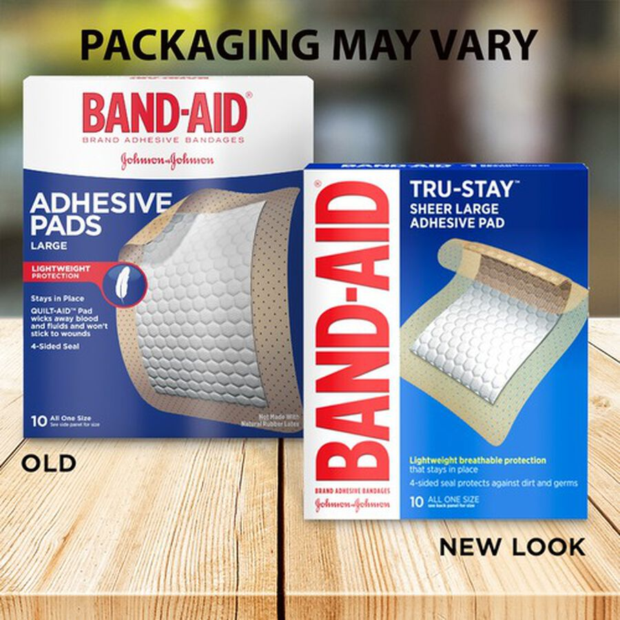 Band-Aid Tru Stay Large Adhesive Pads - 10 ct, , large image number 2