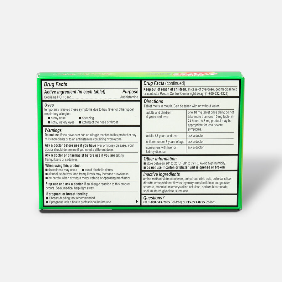 Children's Zyrtec Allergy Dissolve Tablets, Citrus Flavored, , large image number 1