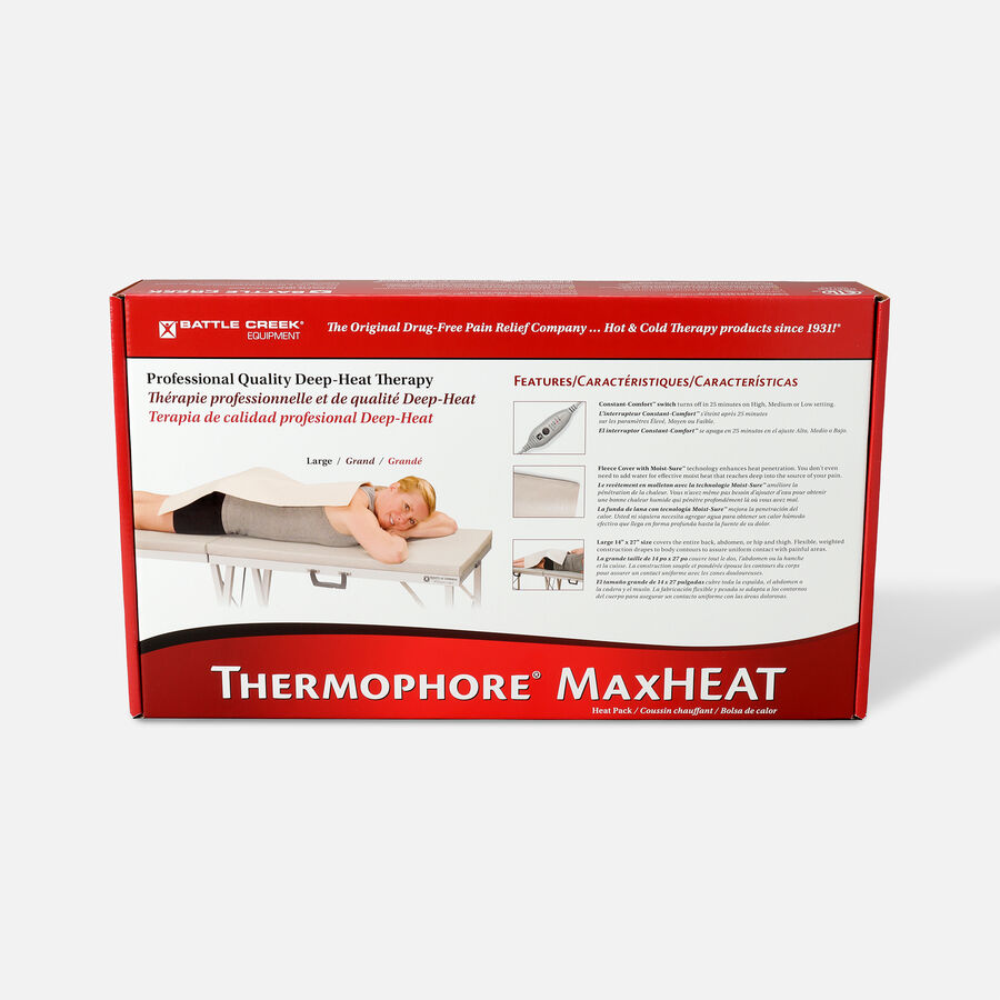 Battle Creek Thermophore MaxHeat Arthritis Pad Soothing Pain Relief Large/Back 14in x 27in, , large image number 1