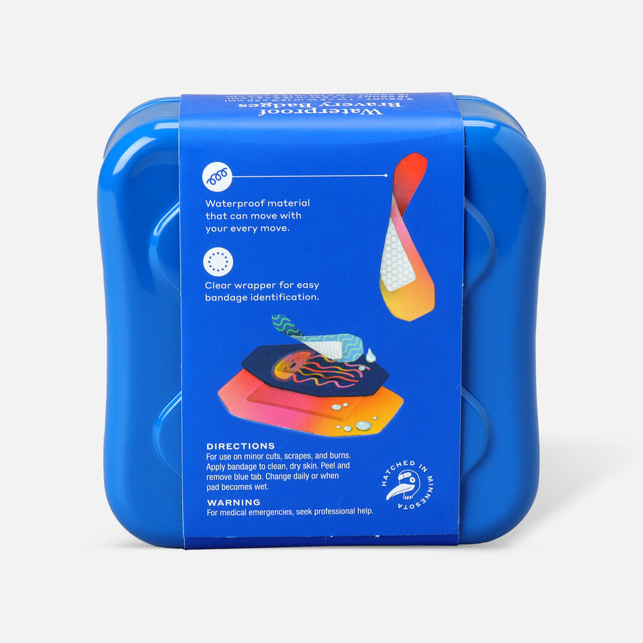 Welly Bravery Badges Waterproof Jellyfish Assorted Flex Fabric Bandages - 39ct, , large image number 1